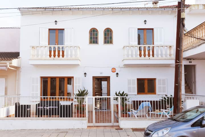 CAN BIEL, modern house  100 meters from  the beach