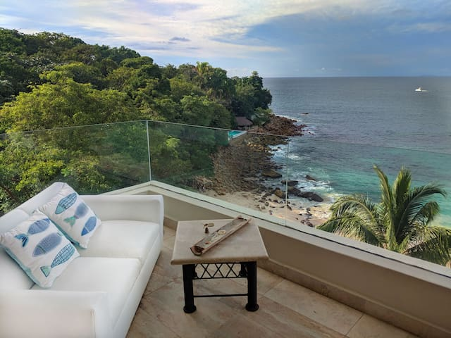 Private Beach Front with a Spectacular View