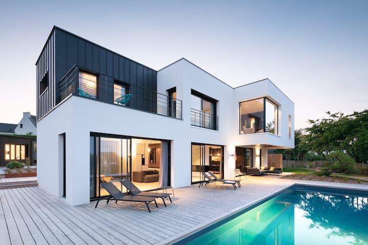 La Maison CAST'IN Maison d'architecte, sur la mer