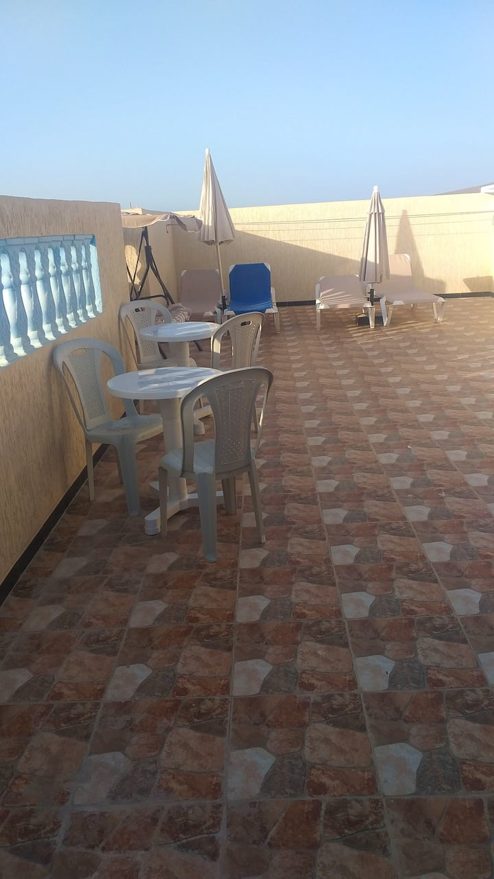 House with 2 bedrooms in Mirleft, with wonderful city view, furnished terrace and WiFi - 500 m from the beach