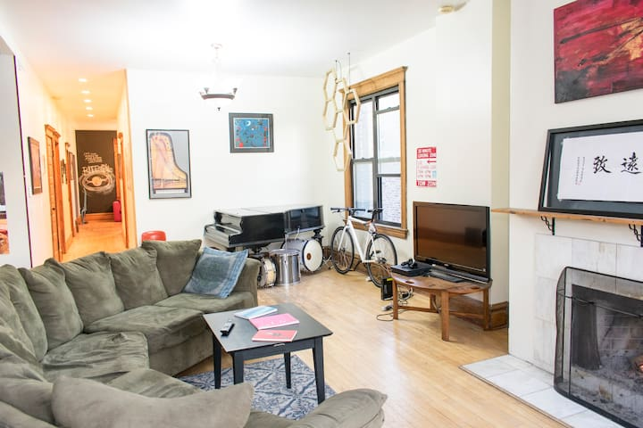 Unique one bedroom in a quiet spot in Logan Square