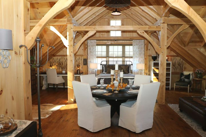 Thousand Acre Farm Waterfront,  Post and Beam Barn