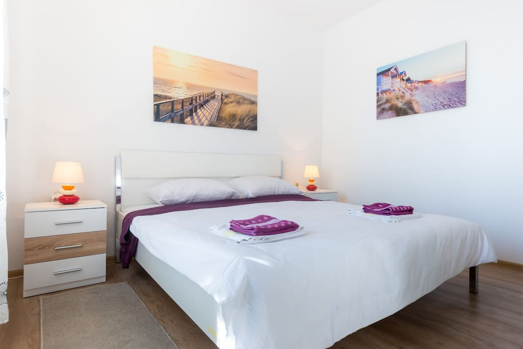 Air-conditioned Bedroom with King Size Bed