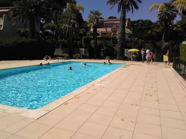 La grande piscine de la résidence