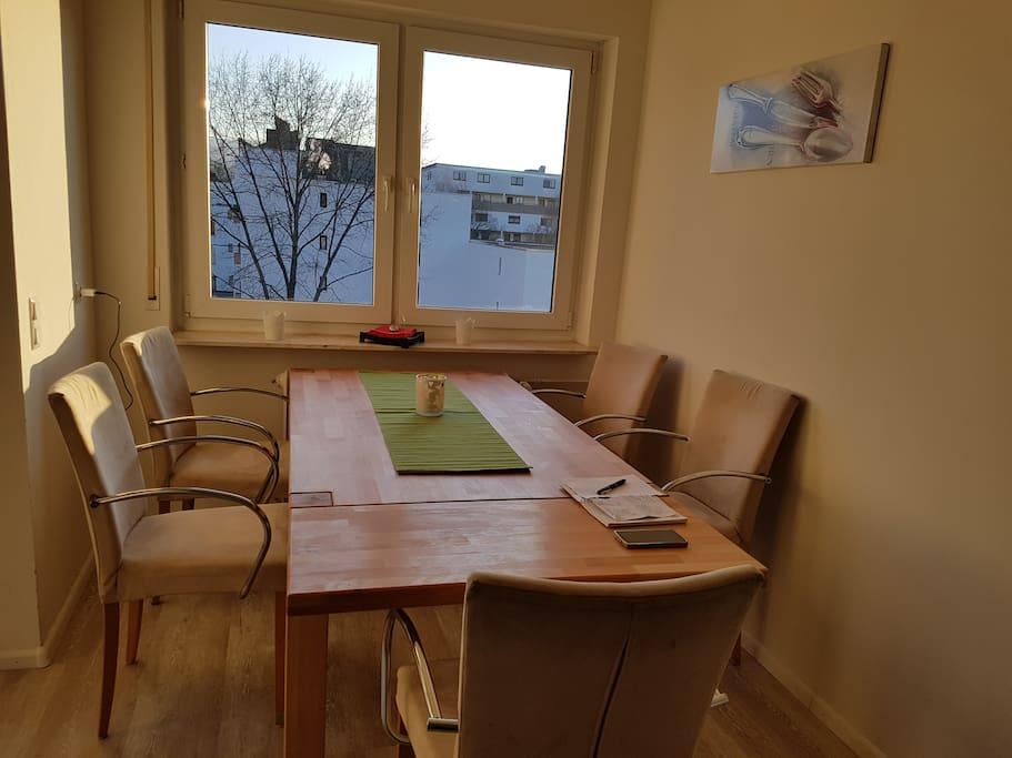 Essbereich, Tisch kann verlängert werden