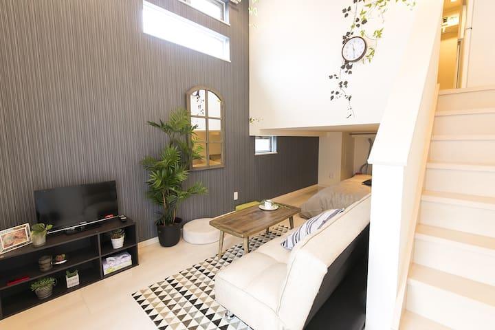2-min from Nagoya Sta./Wi-Fi/Kitchen/Stylish #21 - Nakamura Ward, Nagoya - Apartmen