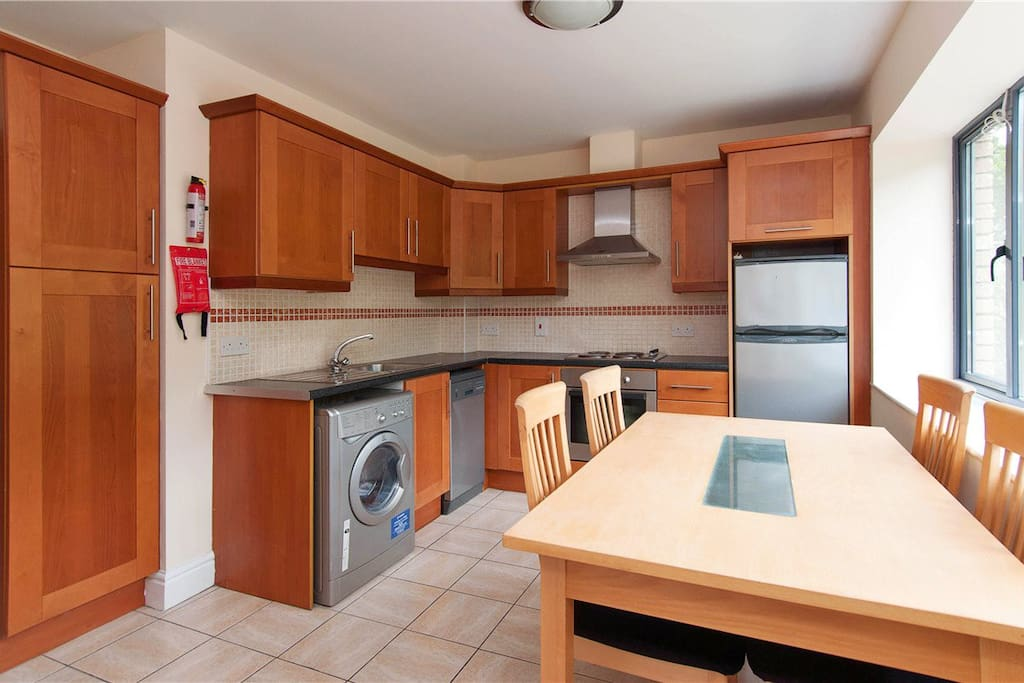 This is the kitchen, however it now looks much more equipped..
