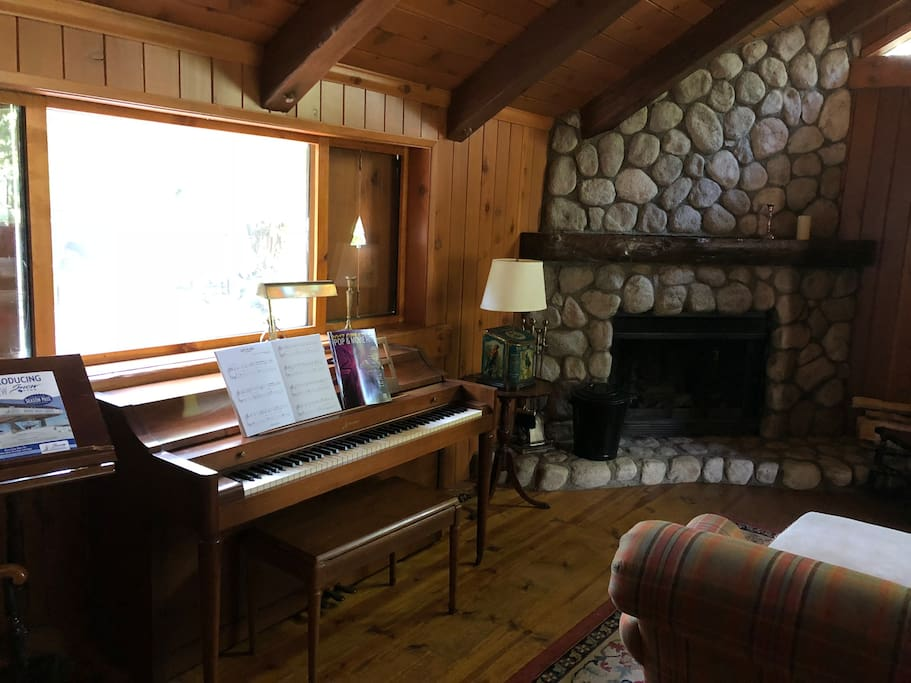 Play some tunes on the piano and sing along with the whole family.  Fireplace is NOT currently usable.
