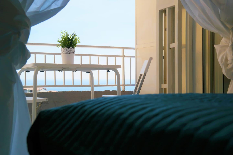 Vista dal letto singolo della camera matrimoniale