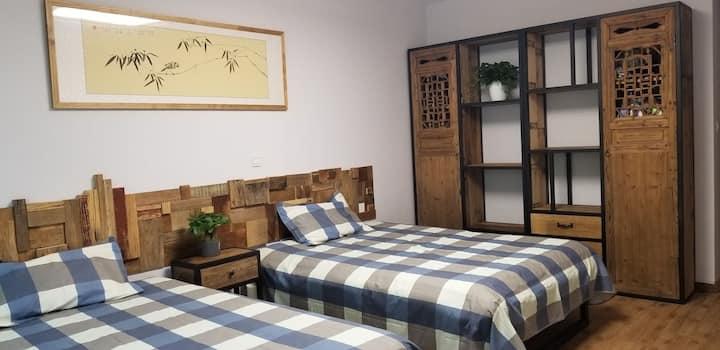 万平口★海边第三浴场教授花园1楼带前后院怀旧风格民宿度假公寓