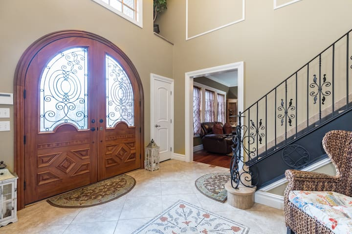 Beautiful solid wood entrance doors