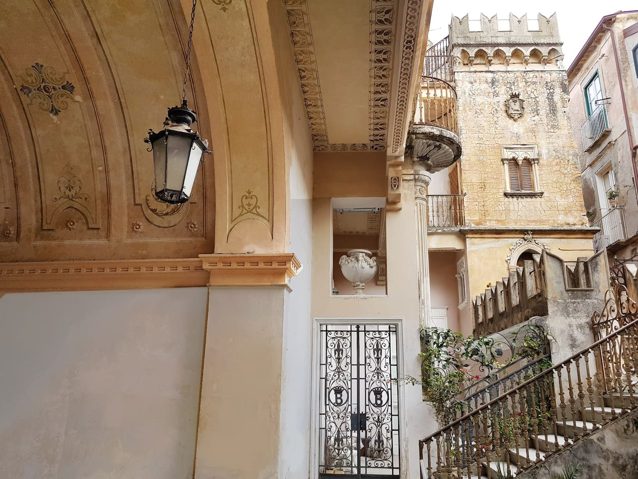 View of the palazzo from the courtyard