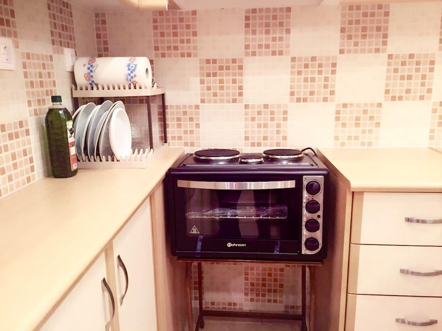 电磁炉烤箱一体机,让您边炒菜边烧烤!