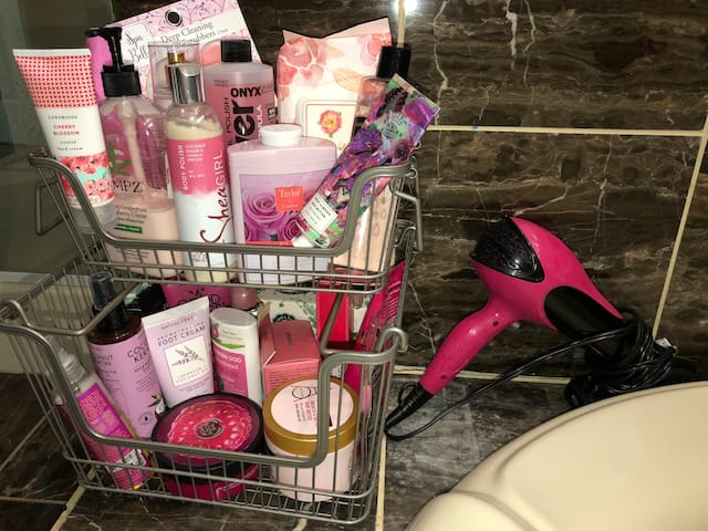 Her Boudoir - Hair Drier, Creams, Gels & Lotions - Have Fun (Guests will be charged for missing items)