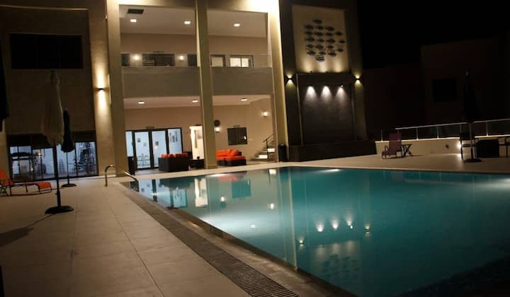 Luxury villa in a western style compound