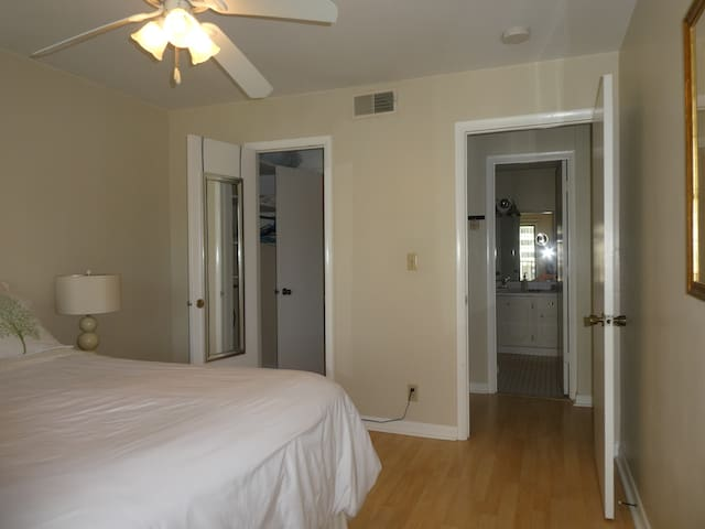 Nice size closet of the bedroom