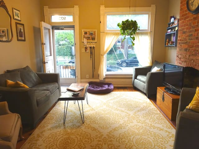 Charming Room in Short North Home - Columbus - Casa
