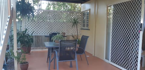 Private, self-contained studio with courtyard.