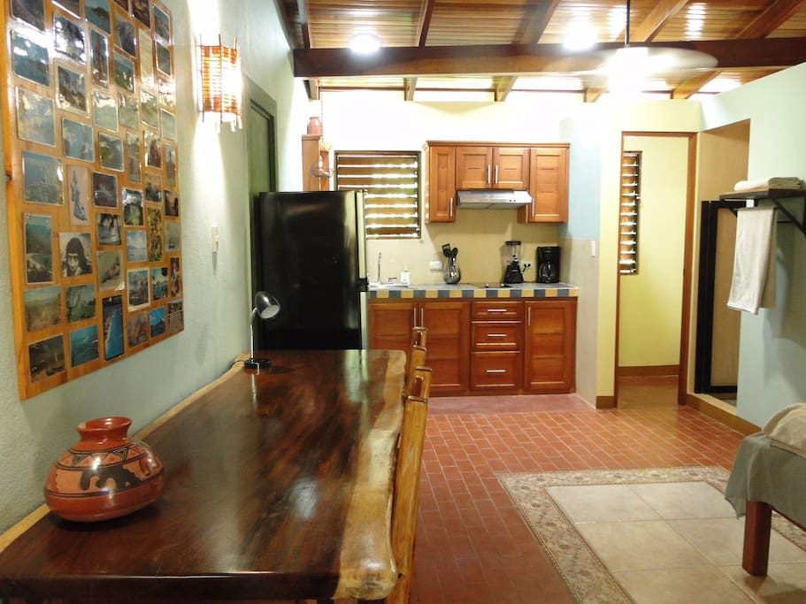 Brand new with deluxe furnishings, tile floors and hardwood ceilings