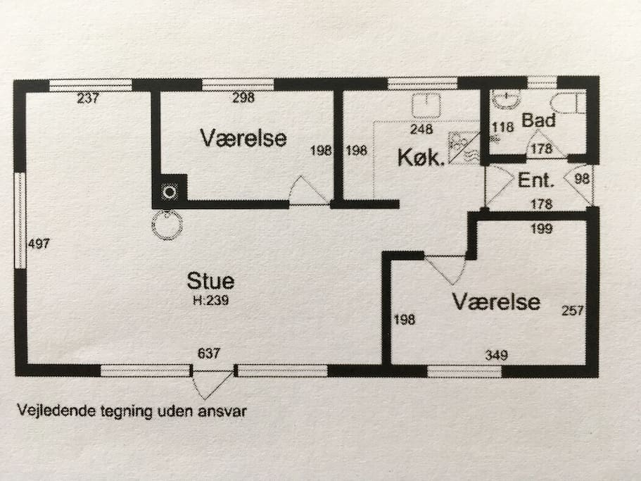 grundplan hus / plan of the house