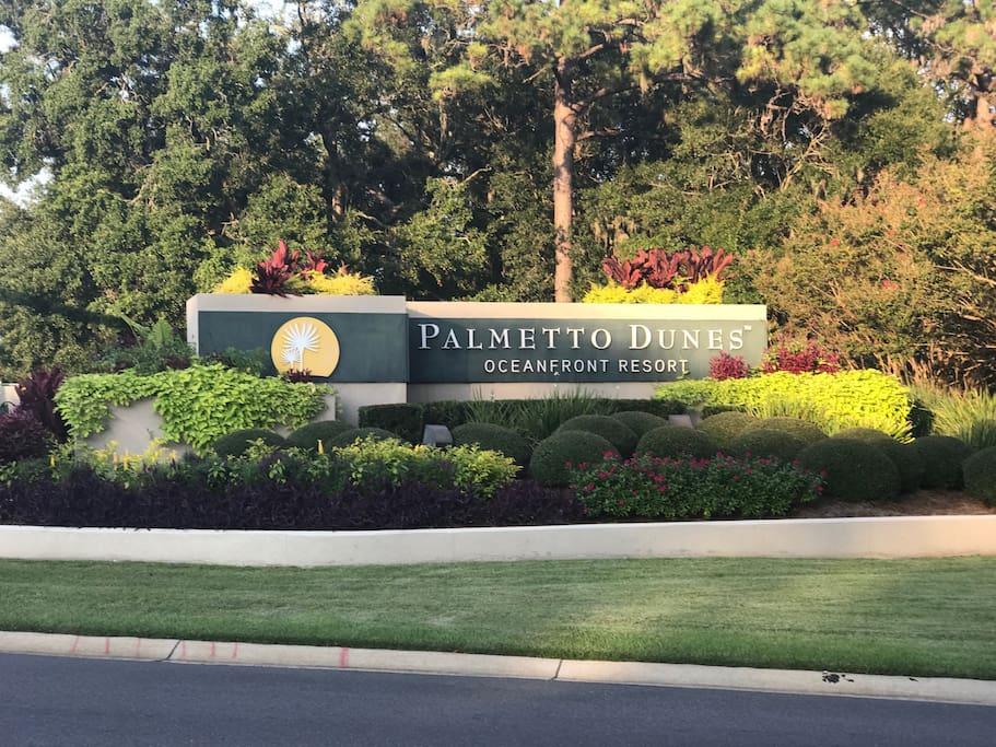 Palmetto Dune Resort Entrance