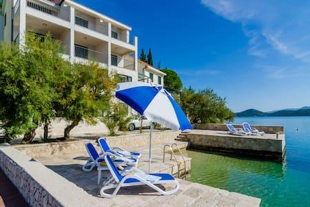 Regina Maris A1 seafront villa with private beach