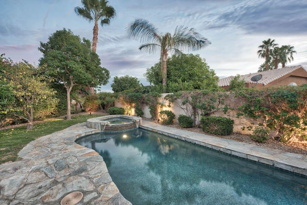 Enjoy the newly refurbished pebble pool