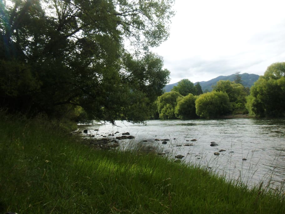 Swimming or trout fishing is just down the road