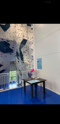 The new and fantastic building for indoor climbing is located right across   the street