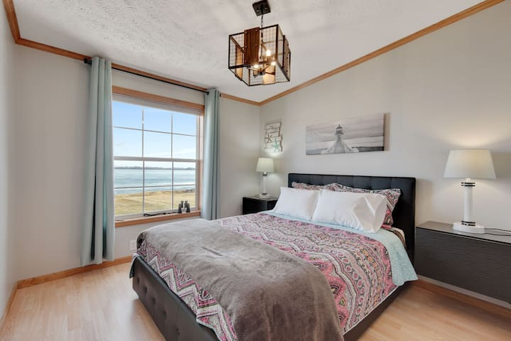 Lake views from queen bedroom