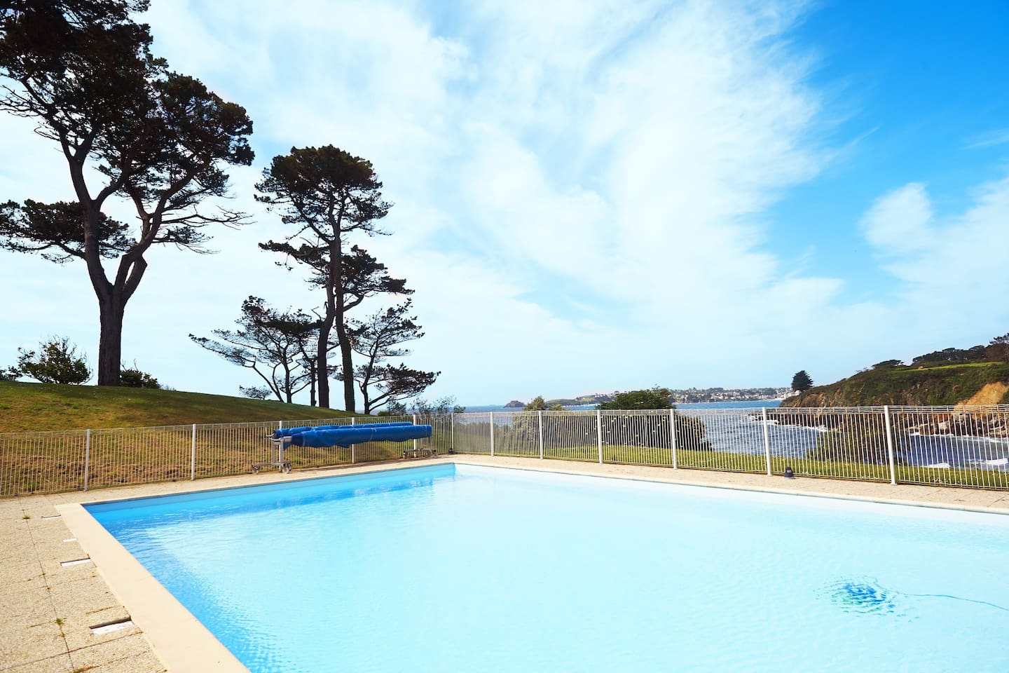 You will love to cool off in the gorgeous, seasonal outdoor pool.
