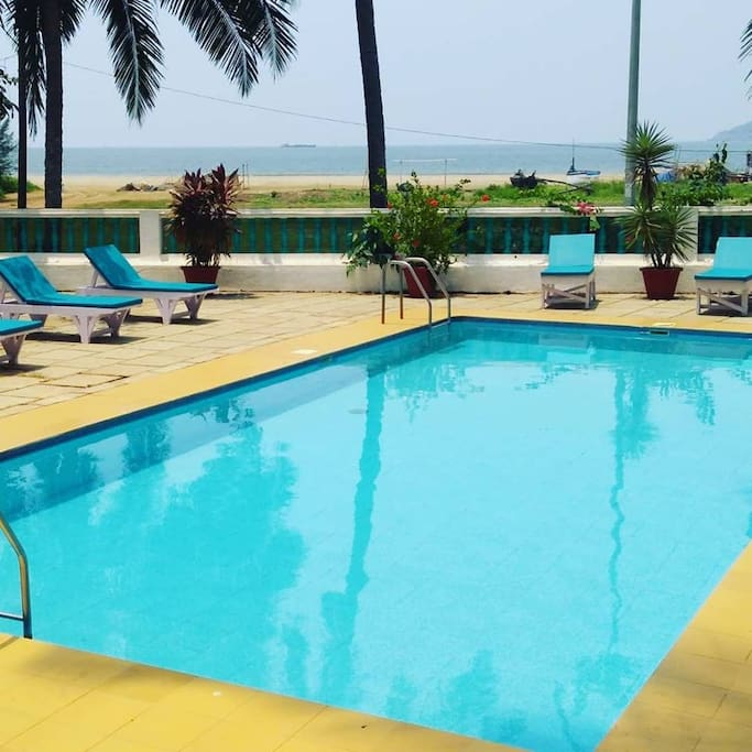 Poolside with Beach View