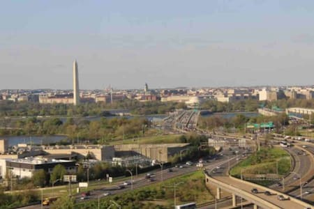 Enjoy DC monument views from luxury apartment