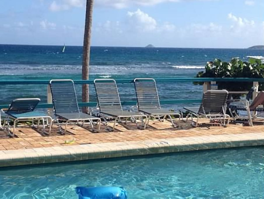 Enjoy the ocean views from the Pool.