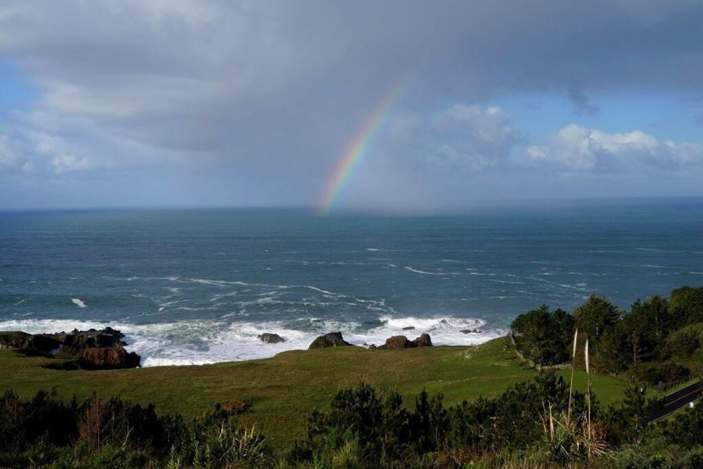 Rainbow over camp
