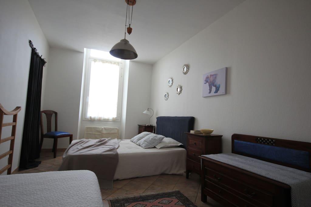 La chambre de l'appartement Vue Vieux Port