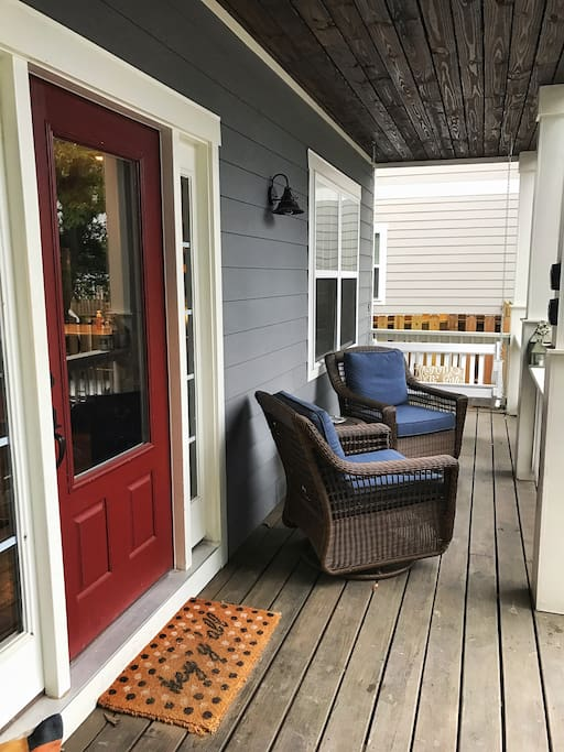 This house has not just one but two porches to enjoy! These comfortable rockers are the perfect place to enjoy your morning coffee.