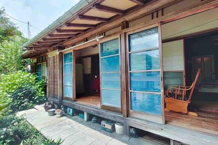 築150年の古民家、畳の部屋、縁側でのんびり、大楠山、芦名の海の近く