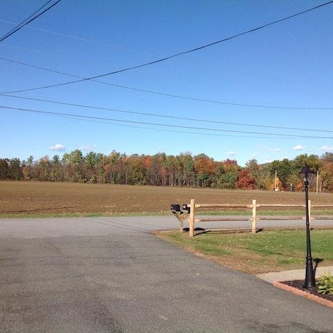 Farm land view.