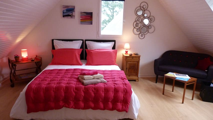"chambre "" GRAND LARGE"" - Crac'h - Bed & Breakfast"