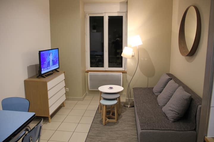 Bel appartement tout équipé rue piétonne à lagnieu