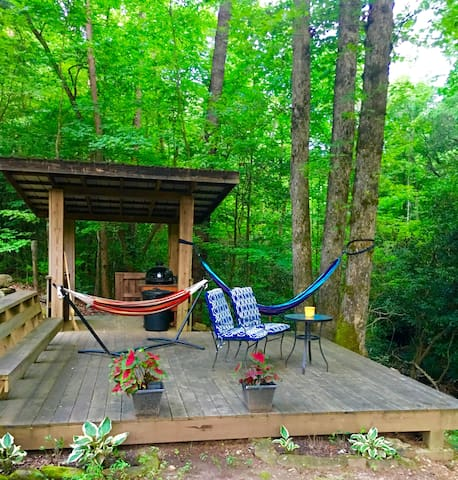 Relax in a hammock and enjoy the sounds of nature