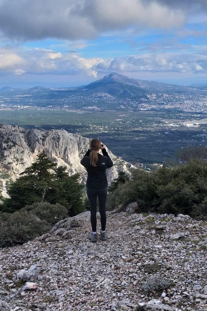 Panoramic view to Attica