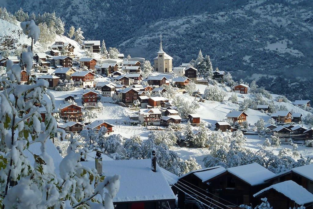 Unse kleines Dorf 1400 m. ü. M (D.Gerritzen)
