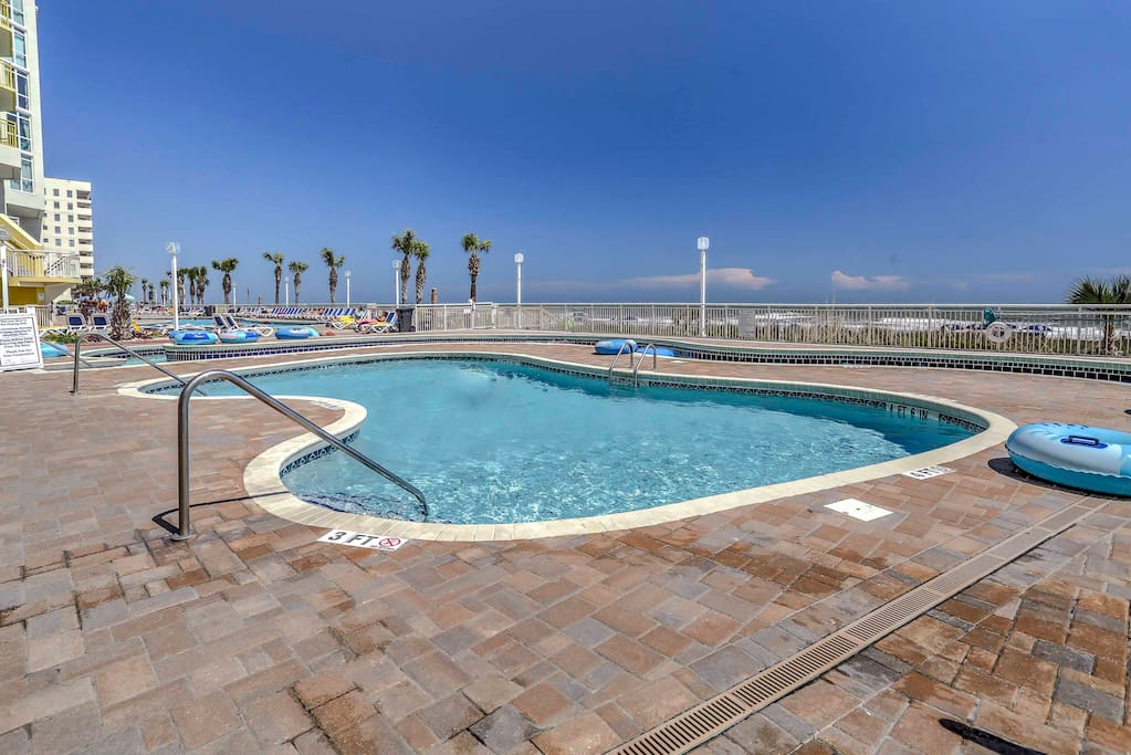 Lounge by the pool or float in the lazy river for a relaxing day outdoors!
