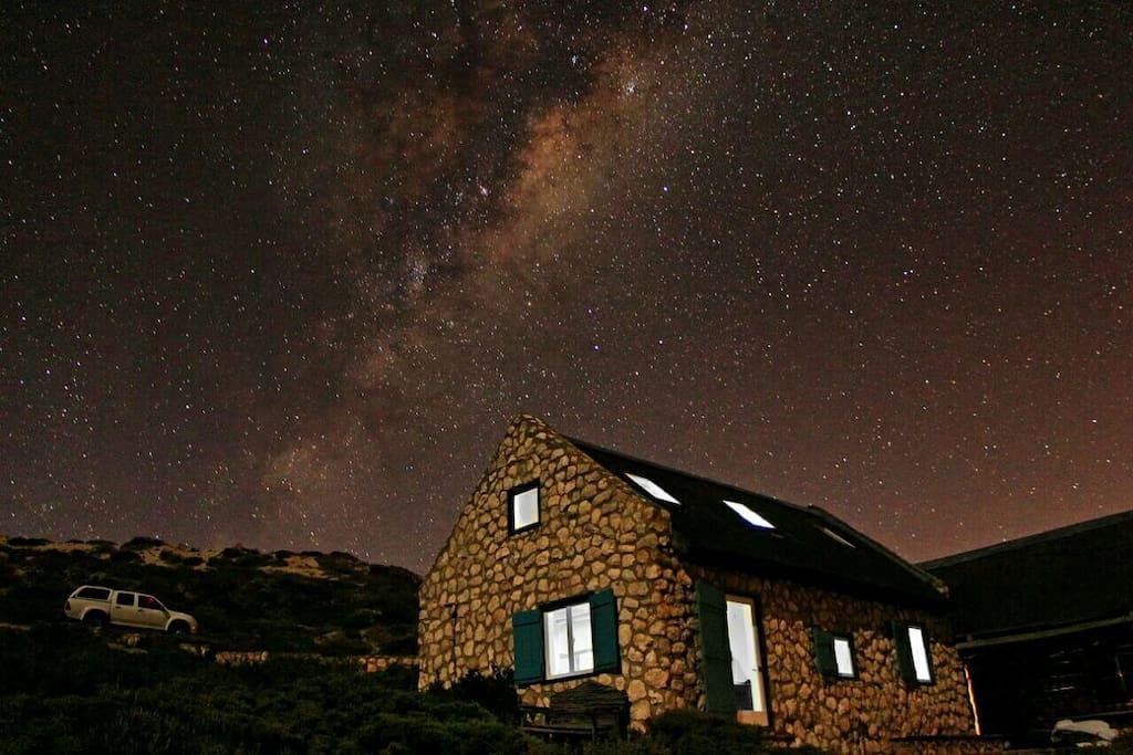 Stars at night.