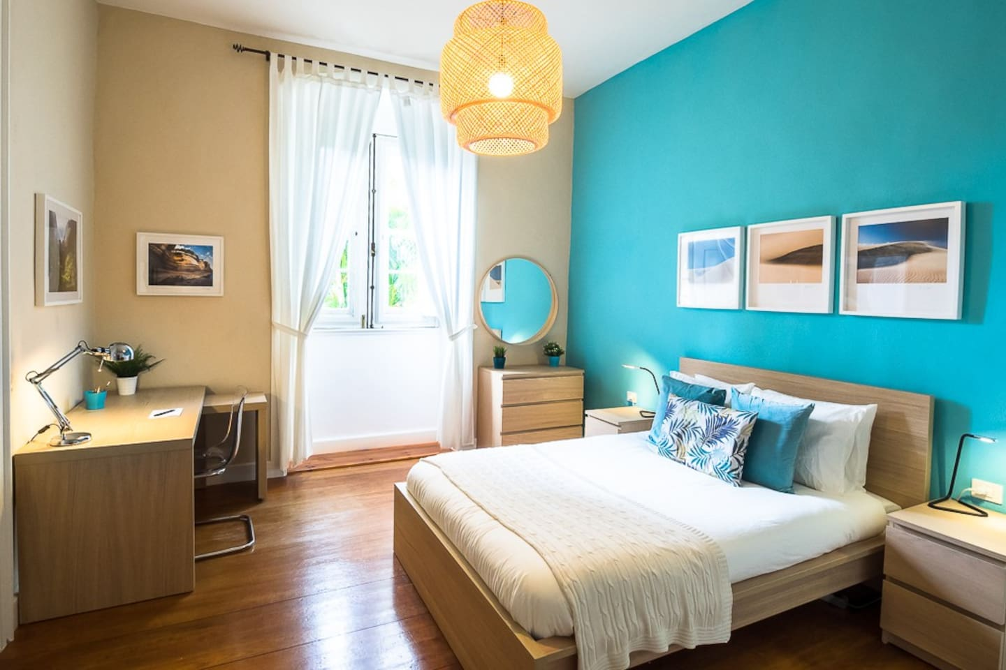 Your fantastic bedroom is very bright, clean and extraordinary spacious!