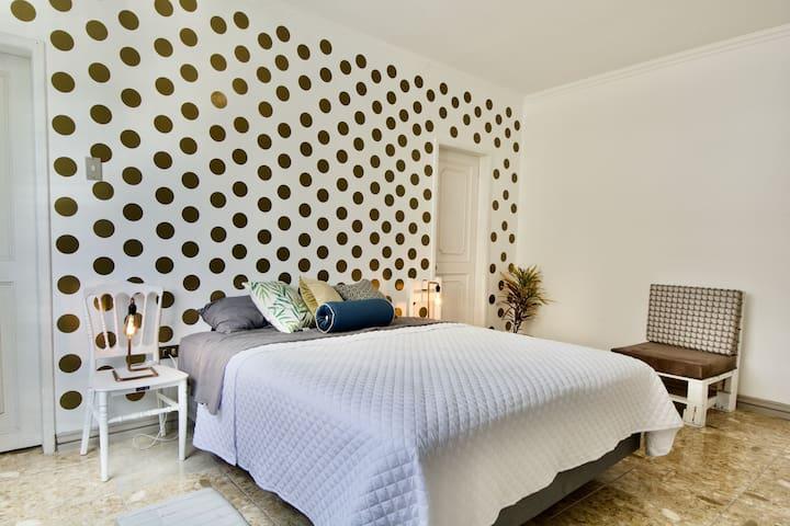 ❤️Dwntwn P.Room Queen Bed AC P.WC in Big/Cozy Apt