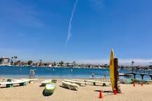 Paddle-board and kayak rentals just 2 streets away at Alamitos Bay.