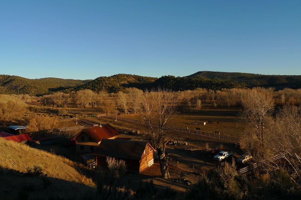 Overview from C.R.500 Ranch in fall